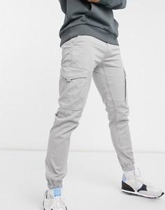 Светло-серые брюки карго из органического хлопка Jack & Jones Intelligence-Серый