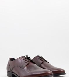 Коричневые кожаные туфли дерби ASOS DESIGN-Коричневый цвет