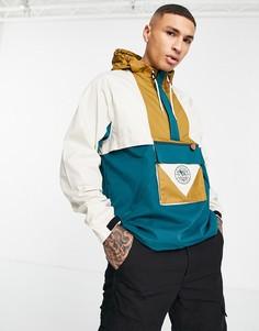 Куртка-анорак без застежек бежевого и синего цветов Reebok Classics Camping-Светло-бежевый цвет