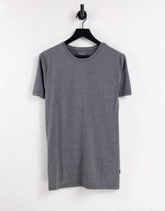 Темно-серая облегающая футболка с короткими рукавами Burton-Серый
