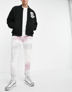 Сиреневые джоггеры с принтом тай-дай от комплекта Topman-Фиолетовый цвет
