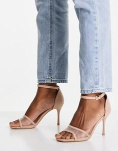 Бежевые туфли на шпильке с сетчатым ремешком New Look-Светло-бежевый цвет