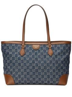 Gucci сумка-тоут Ophidia среднего размера с узором GG