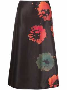 Marni юбка А-силуэта с цветочным принтом