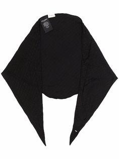 Saint Laurent шелковый платок с логотипом