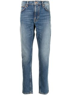 Nudie Jeans прямые джинсы Lean Dean средней посадки