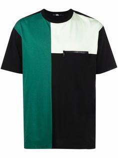 Karl Lagerfeld футболка с принтом в стиле колор-блок