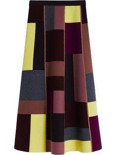 Victoria Victoria Beckham юбка макси в стиле колор-блок