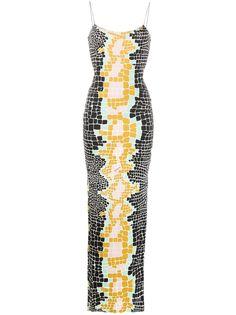 Just Cavalli вечернее платье с абстрактным принтом