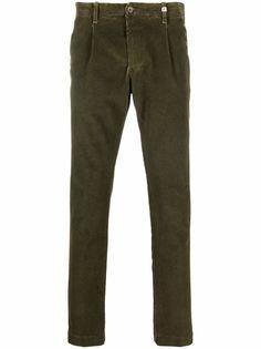 Myths вельветовые брюки с нашивкой-логотипом