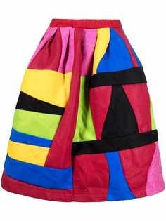 Comme Des Garçons Comme Des Garçons длинная юбка в стиле колор-блок