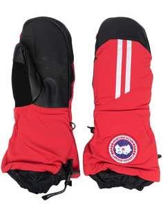 Canada Goose перчатки с нашивкой-логотипом