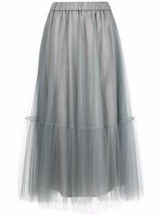 Fabiana Filippi расклешенная юбка с эластичным поясом