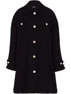 Dolce & Gabbana фактурное однобортное пальто