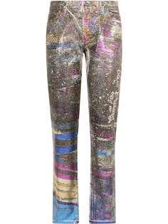 Dolce & Gabbana прямые джинсы с голографическим принтом