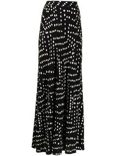 DVF Diane von Furstenberg юбка макси в горох