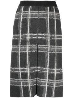 Thom Browne клетчатая юбка-карандаш