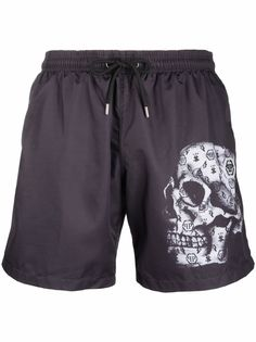 Philipp Plein плавки-шорты с монограммой
