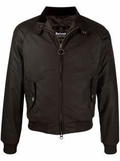 Barbour вощеная куртка на молнии с воротником-воронкой