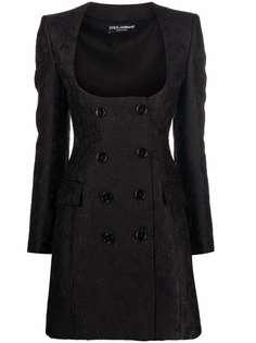 Dolce & Gabbana двубортное пальто с узором