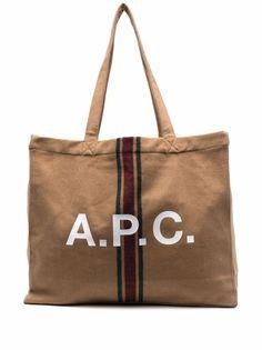 A.P.C. шерстяная сумка-тоут с логотипом