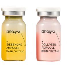 Stayve Сыворотка для лица под дермапен/ мезороллер, набор 2 ампулы х 8 мл, коллаген + антиоксидант идебенон