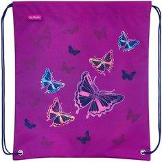 Herlitz Мешок для обуви Glitter Butterfly 50021307-1, фиолетовый