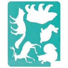 """Трафарет-раскраска контурный Стамм """"Лесные звери"""", А5, пакет, 20шт. (ТТ93)"""