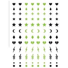 Miami tattoos Переводные тату Glow Symbols зеленый/черный