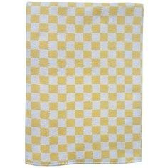Одеяло детское байковое (желтая клетка, 100x140 см) Папитто