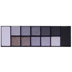 TF Cosmetics Палетка теней 12 Color Pallette Eyeshadow Pearl & Matte 01 дымчато-серый