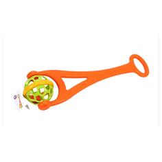 Игрушка каталка детская с ручкой 63 см технок с погремушкой