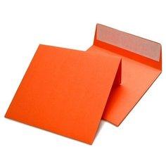 Конверт цветной (160х160мм) Оранжевый Курт
