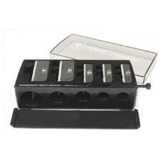 TF Точилка TRIUMPH для косметических карандашей универсальная, 5 разных диаметров, контейнер и стик