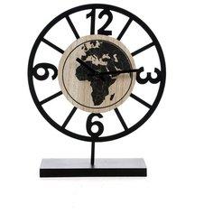 """Часы настольные """"Карта мира"""" 20*7*25см 138865 Русские подарки"""