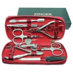 Маникюрный набор Zinger 7106 SM, на молнии, 8 предметов (прям.б.)