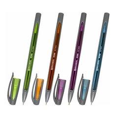 Ручка шариковая Brauberg BOMB GT Metallic (0.35мм, синий цвет чернил, разные цвета корпуса, масляная основа) 36 уп. (143348