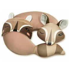 """Подушка для шеи антистресс с маской для сна Штучки, к которым тянутся ручки """"Енот"""", коричневый"""