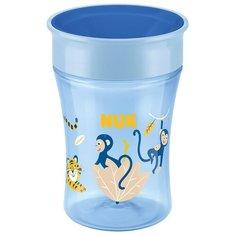 Поильник NUK Evolution Magic, 230 мл синий/обезьянки и тигр