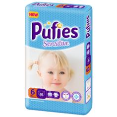 Pufies подгузники Sensitive 6 (13+), 66 шт.