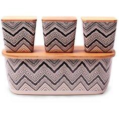 Хлебница Kamille из бамбукового волокна с 3 емкостями для хранения 1131