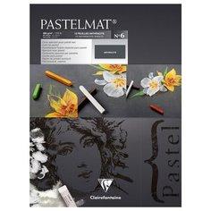 """Альбом для пастели Clairefontaine 12 листов, 300*400 мм, на склейке, """"Pastelmat"""", 360 г/м2, бархат, антрацит (96050C)"""
