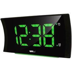Часы настольные BVItech BV-432 черный/зеленый