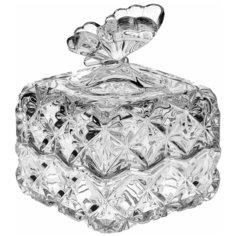 "Шкатулка 9,6 см крадратная Crystal Bohemia ""Бабочка /BUTTERFLY"" / 104622"