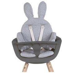 Стульчик для кормления Childhome Evolu 2 с подушкой, natural/anthracite/rabbit grey