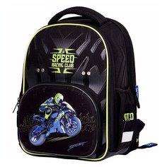 Berlingo ранец Profi Moto Speed, синий/зеленый/черный
