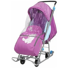 Санки-коляска Nika Disney baby 1 Мари орхидея