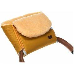 Nuovita Муфта меховая для коляски Vichingo Pesco miele/медовый