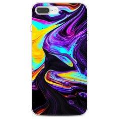 Чехол Силиконовый iPhone 7 Plus Фиолетовый флюид арт Case Place