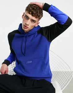 Синий худи в стиле колор блок adidas Originals SPRT-Голубой